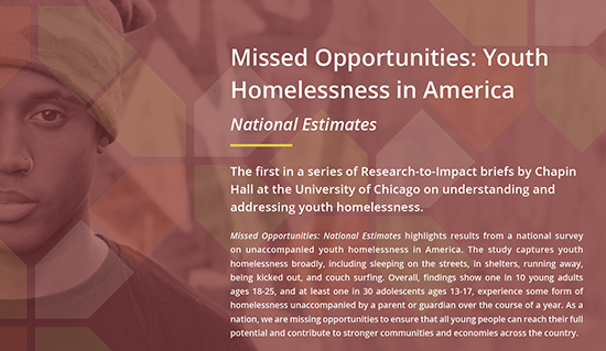 Missed opportunities Youth Homelessness report