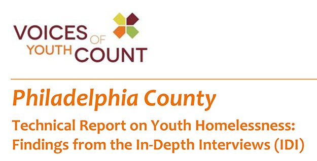 Voice of Youth Count philadelphia technical report from in depth interviews