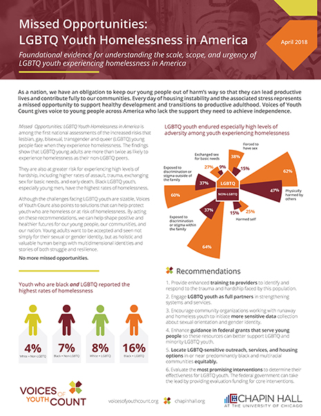 Missed Opportunities: LGBTQ Youth Homelessness in America