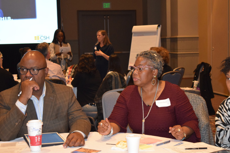 Teresa Cherry (right) at the Homeless Services Charrette December 2017