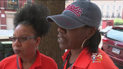Maryann Styles and Delores Liggins are helping Philadelphia's as temps soar into the 90s. (Credit: CBS3)