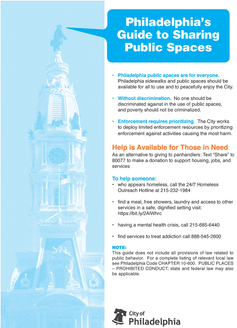 Guide to Sharing Public Space flier