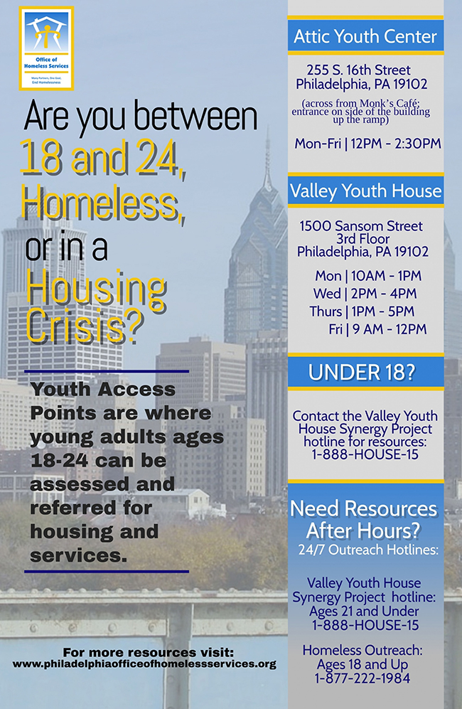 Youth Access Points flyer