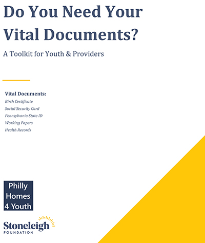 Vital documents for Youth toolkit cover